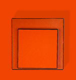 Two orange boxes Stock Images
