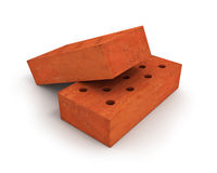 Two orange bricks Stock Image