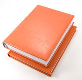 Two orange diaries on white Stock Photo