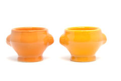 Two orange egg container bowl Stock Image