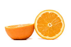 The two orange half Stock Photo