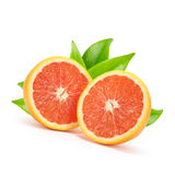 Two orange halves Stock Photography