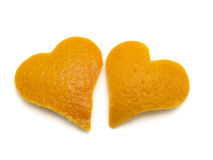 Two Orange Hearts Stock Photos