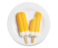 Two orange ice cream Stock Images