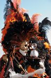 Two orange masks - Venice carnival Royalty Free Stock Photo