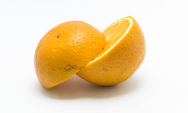 Two orange pieces Stock Photo