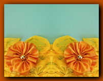 Two orange ribbons stock image