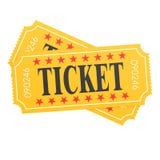 Two orange ticket on white background Royalty Free Stock Image