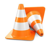 Two orange traffic cones Royalty Free Stock Photography