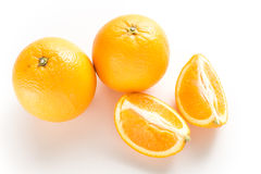 Two orange in white isolated Royalty Free Stock Image