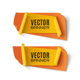 Two orange and yellow, abstract banners. Royalty Free Stock Photography