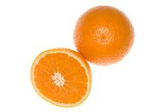 Two oranges Stock Photos