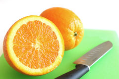 Two Oranges Royalty Free Stock Photos