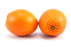 Two oranges Stock Photography