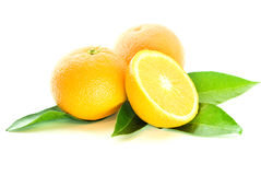 Two oranges and half Royalty Free Stock Images