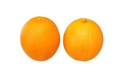 Two oranges. Isolated on white Stock Photo