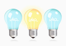 Two ordinary ideas and one creative idea Stock Photography