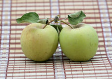 Two organic apples Royalty Free Stock Image