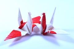Two origami cranes Stock Photo