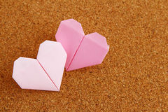 Two Origami heart Royalty Free Stock Photo
