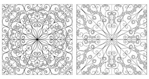 Two ornamental backgrounds Stock Images