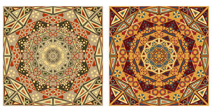 Two ornamental backgrounds Royalty Free Stock Photos