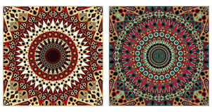 Two ornamental backgrounds. Two colorful ornamental backgrounds. Arabesque style Royalty Free Stock Photos
