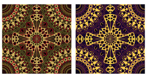 Two ornamental backgrounds Stock Photography
