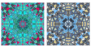 Two ornamental backgrounds. Two colorful ornamental backgrounds. Arabesque style Stock Photo