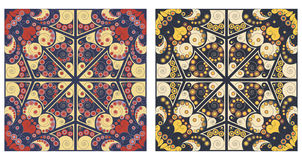 Two ornamental backgrounds. Two colorful ornamental backgrounds. Arabesque style Royalty Free Stock Photo
