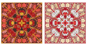 Two ornamental backgrounds. Two colorful ornamental backgrounds. Arabesque style Royalty Free Stock Photography