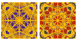 Two ornamental backgrounds. Two colorful ornamental backgrounds. Arabesque style Stock Photography