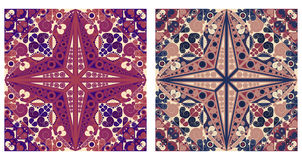 Two ornamental backgrounds. Two colorful ornamental backgrounds. Arabesque style Stock Photos