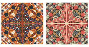 Two ornamental backgrounds. Two colorful ornamental backgrounds. Arabesque style Royalty Free Stock Images