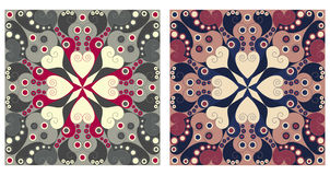 Two ornamental backgrounds. Two colorful ornamental backgrounds. Arabesque style Stock Images
