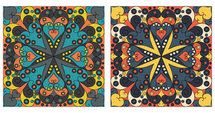 Two ornamental backgrounds Royalty Free Stock Images