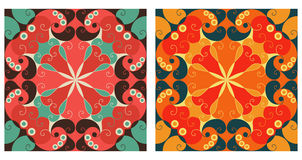 Two ornamental backgrounds. Two colorful ornamental backgrounds. Arabesque style Royalty Free Stock Image