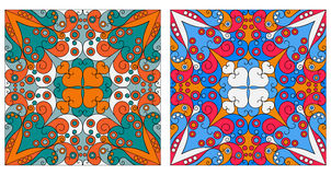 Two ornamental backgrounds. Two colorful ornamental backgrounds. Arabesque style Stock Image