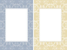 Two ornamental frames Stock Image