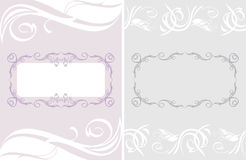 Two ornamental frames for a event design Stock Image
