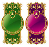 Two ornamental golden frame Stock Photography