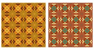 Two ornamental patterns Royalty Free Stock Photos