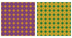 Two ornamental patterns Stock Image