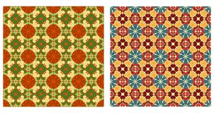 Two ornamental patterns Stock Photo