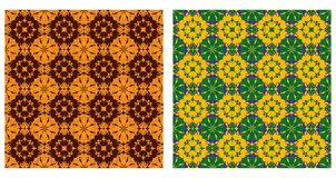 Two ornamental patterns Stock Photos