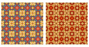 Two ornamental patterns Royalty Free Stock Photo