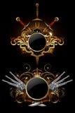 Two ornamental shields Stock Photo