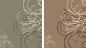 Two ornamental stylish backgrounds Stock Photo