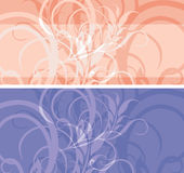 Two ornamental stylish borders Royalty Free Stock Images