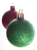 Two ornaments Royalty Free Stock Image